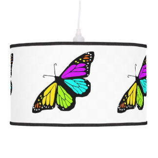 Colorful butterfly clipart pendant lamp
