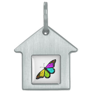 Colorful butterfly clipart pet name tag