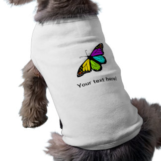 Colorful butterfly clipart pet tee