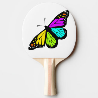 Colorful butterfly clipart ping pong paddle