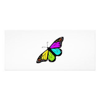 Colorful butterfly clipart rack card