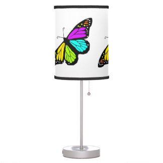 Colorful butterfly clipart table lamp