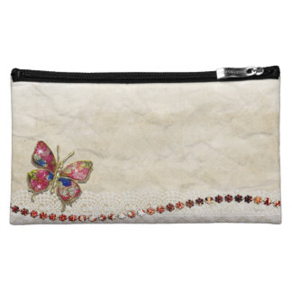 Colorful butterfly cosmetic bag