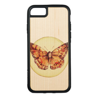Colorful Butterfly Illustration Carved iPhone 8/7 Case