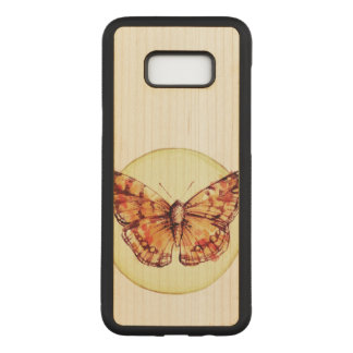 Colorful Butterfly Illustration Carved Samsung Galaxy S8+ Case