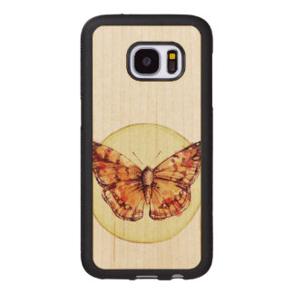 Colorful Butterfly Illustration Wood Samsung Galaxy S7 Case