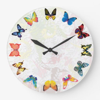 Colorful Butterfly Kids Room Wall Clock