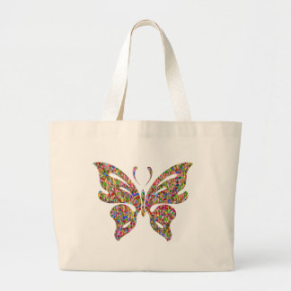 Colorful Butterfly Large Tote Bag