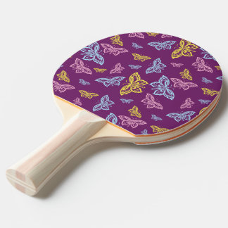 Colorful Butterfly Pattern Ping Pong Paddle
