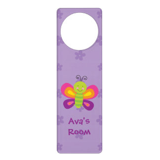 Colorful Butterfly Personalized Door Hanger