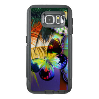 Colorful butterfly Tropical Pattern Print OtterBox Samsung Galaxy S6 Case