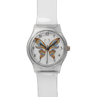 Colorful butterfly wristwatches
