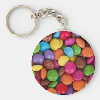 Colorful Button Candy Keychain
