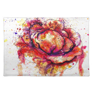 Colorful Cabbage Watercolor2 Place Mat