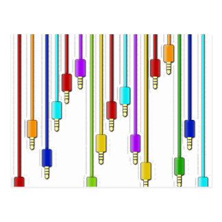 Colorful cables postcard