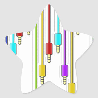 Colorful cables star sticker