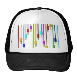 Colorful cables trucker hat