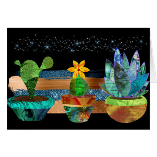 Colorful Cactus and Succulents Card