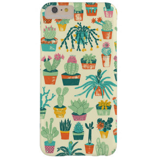 Colorful Cactus Flower Pattern Barely There iPhone 6 Plus Case