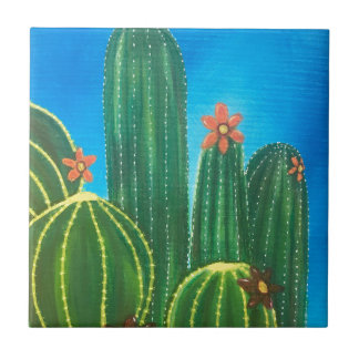 Colorful Cactus Tile