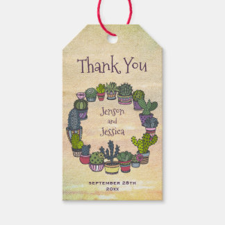 Colorful Cactus Wedding Thank You Gift Tags