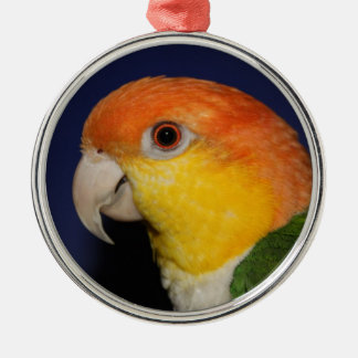 Colorful Caique Parrot Metal Ornament
