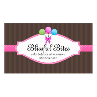 Colorful Cake Pops Business Cards