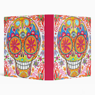 Colorful Calavera Binder