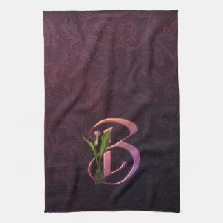 Colorful Calla Initial B Kitchen Towel