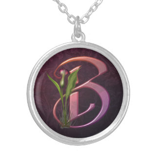 Colorful Calla Initial B Jewelry