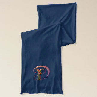 Colorful Calla Initial D Scarf