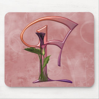 Colorful Calla Initial F Mouse Pad