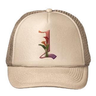 Colorful Calla Initial I Hats