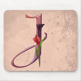 Colorful Calla Initial J Mouse Pad