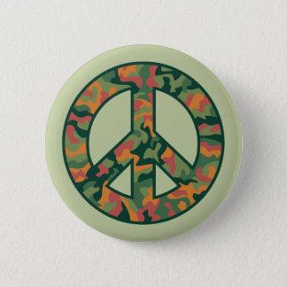 Colorful Camo Peace 2 Inch Round Button