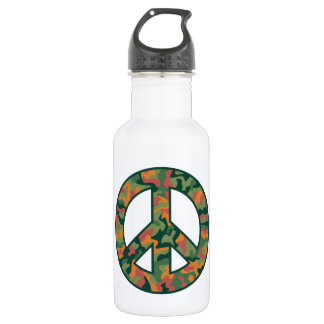 Colorful Camo Peace 532 Ml Water Bottle