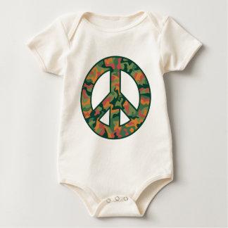 Colorful Camo Peace Baby Bodysuit