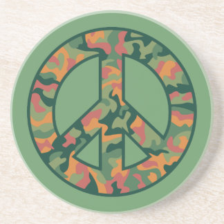 Colorful Camo Peace Coaster