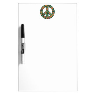 Colorful Camo Peace Dry Erase Board