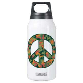 Colorful Camo Peace Insulated Water Bottle