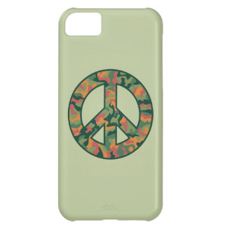 Colorful Camo Peace iPhone 5C Covers
