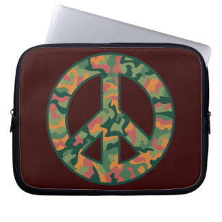 Colorful Camo Peace Laptop Sleeve