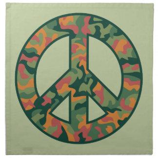 Colorful Camo Peace Napkin