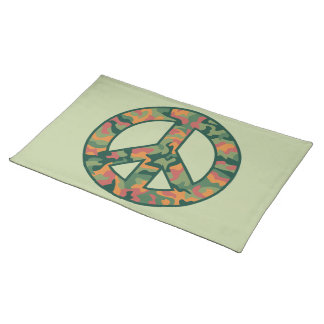 Colorful Camo Peace Placemat