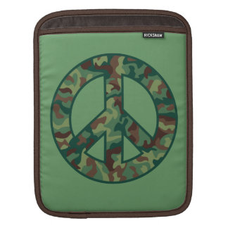 Colorful Camo Peace Sleeve For iPads