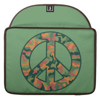 Colorful Camo Peace Sleeve For MacBook Pro
