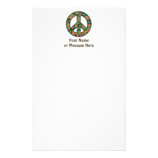 Colorful Camo Peace Stationery