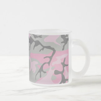 Colorful Camouflage Design Frosted Glass Coffee Mug