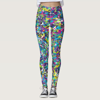 Colorful Camouflage Leggings