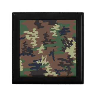 Colorful Camouflage seamless pattern Gift Box